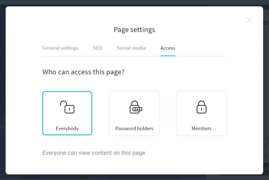 getresponse website builder page settings